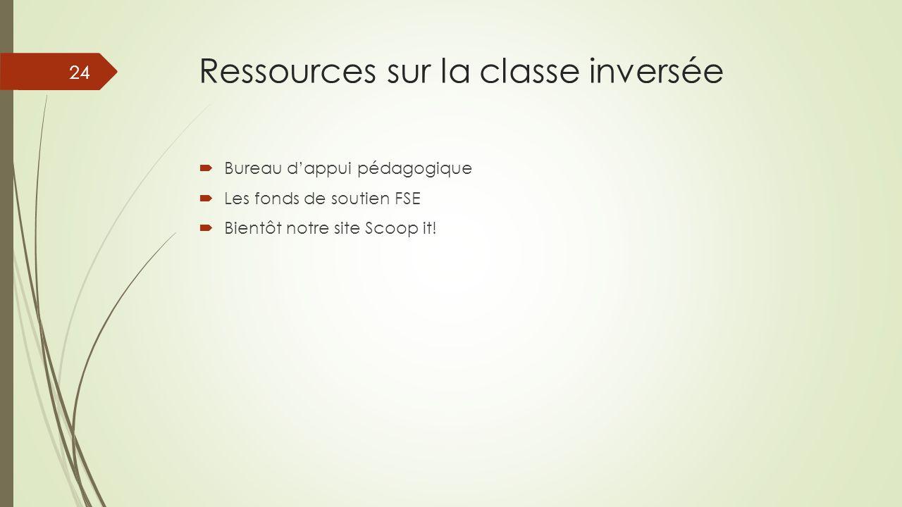 Ressources sur la classe inversée