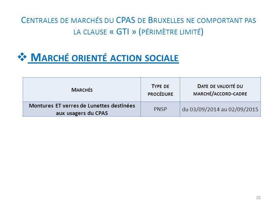 Marché orienté action sociale