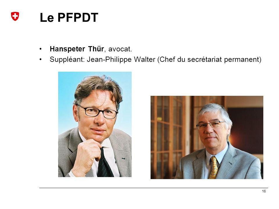 Le PFPDT Hanspeter Thür, avocat.
