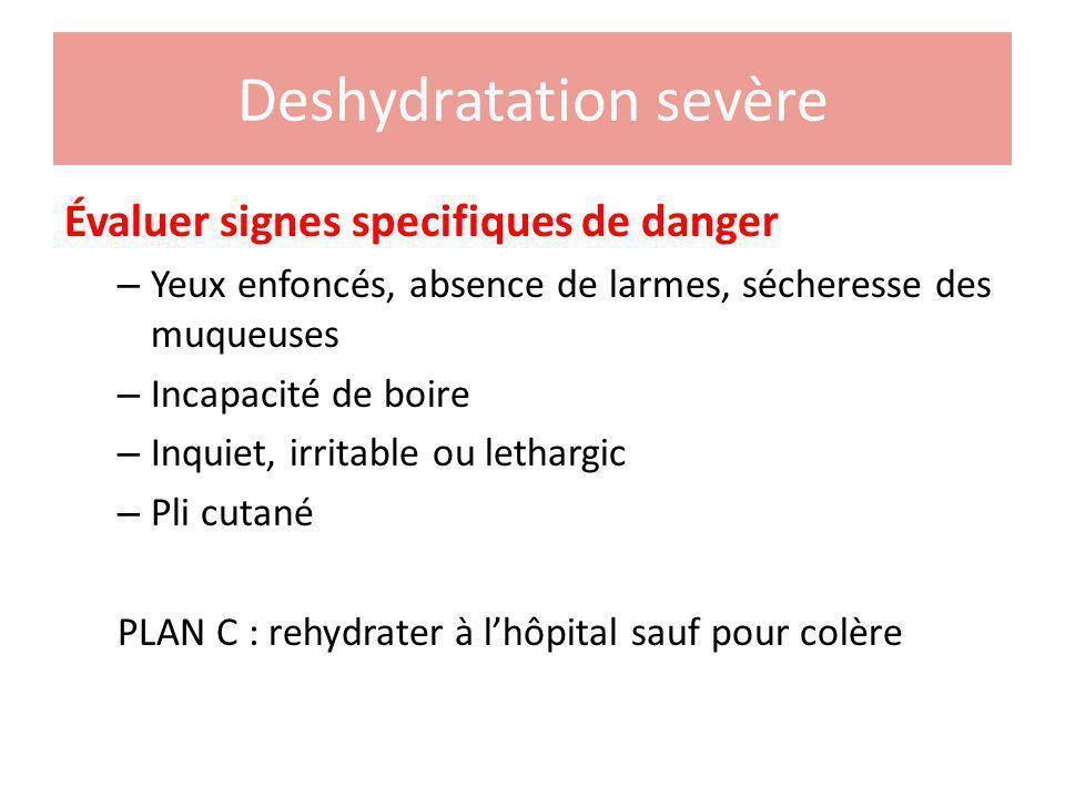 Deshydratation sevère
