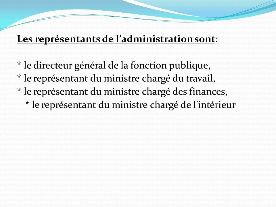 Les représentants de l'administration sont: