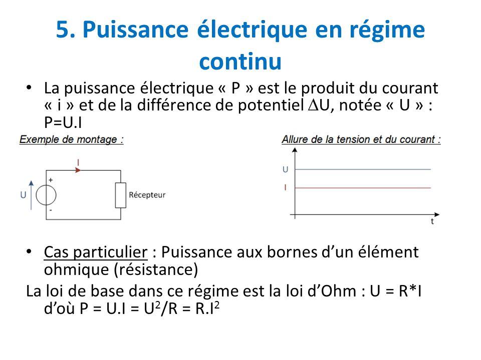 5. Puissance électrique en régime continu