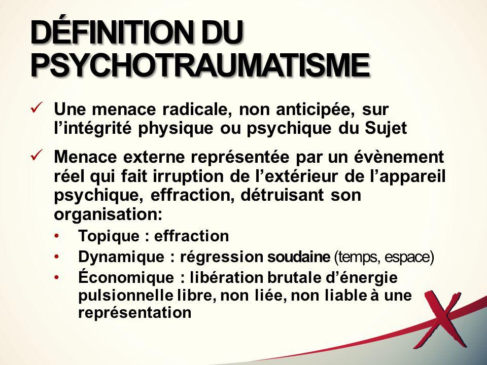 DÉFINITION DU PSYCHOTRAUMATISME