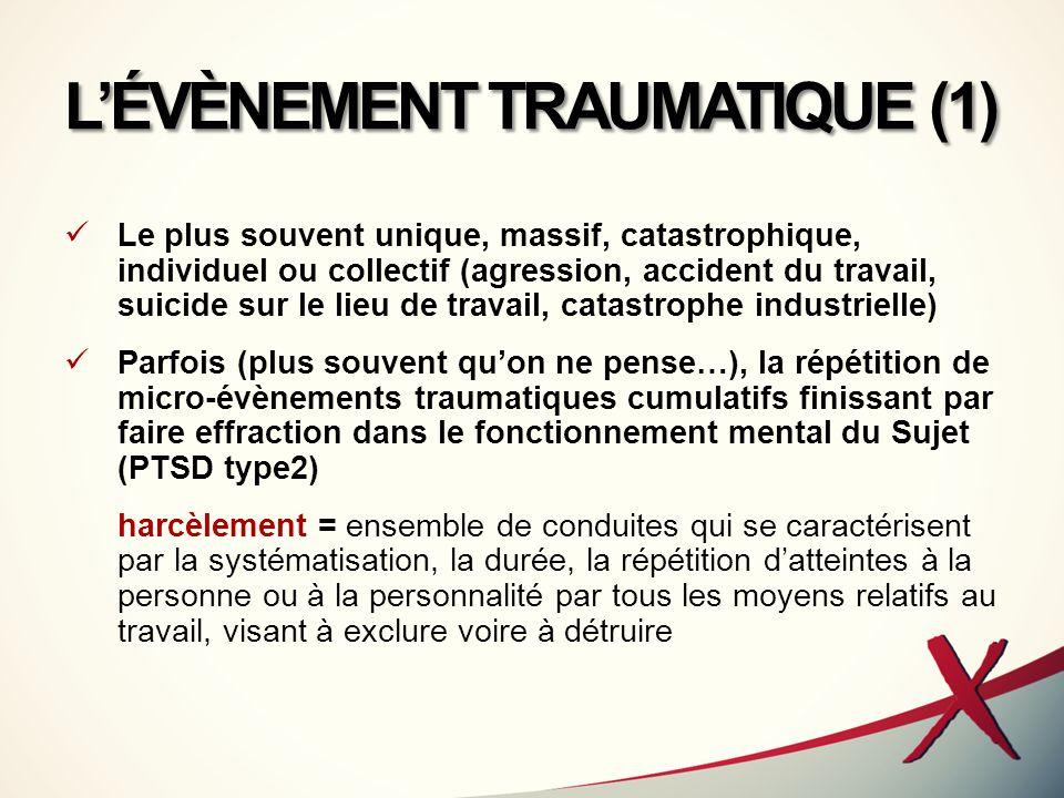 L'ÉVÈNEMENT TRAUMATIQUE (1)