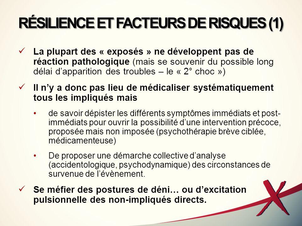 RÉSILIENCE ET FACTEURS DE RISQUES (1)