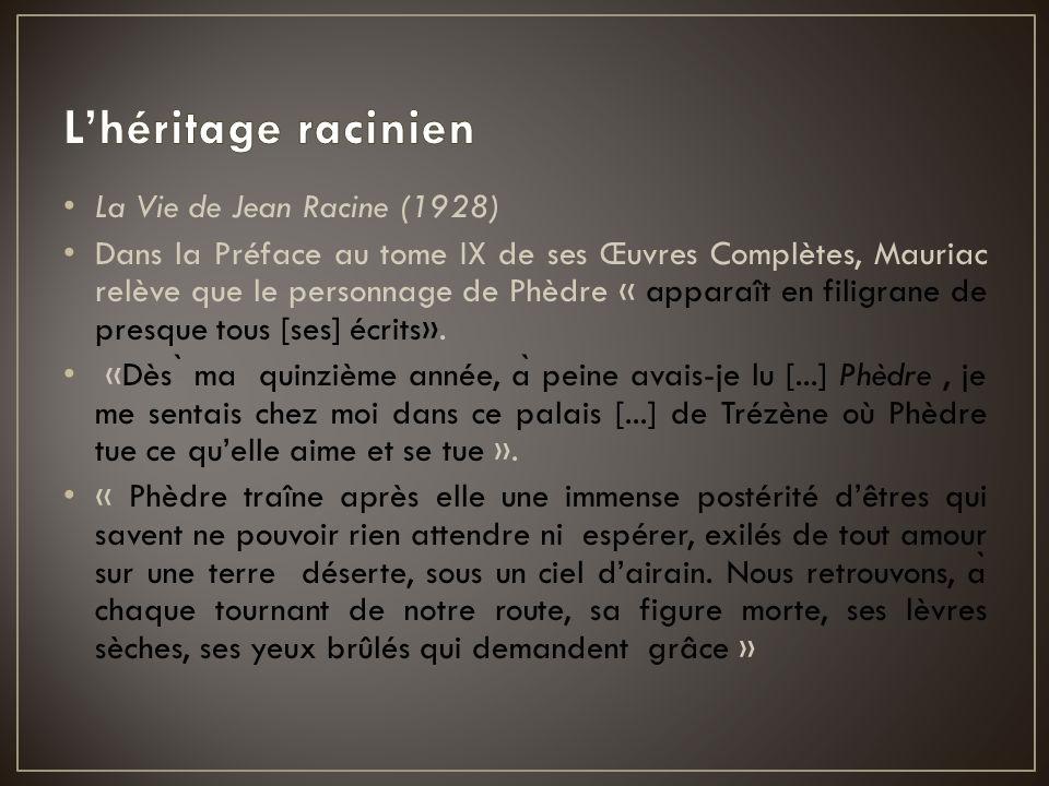 L'héritage racinien La Vie de Jean Racine (1928)