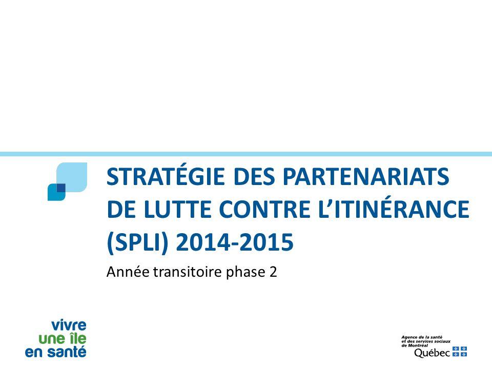 Stratégie des partenariats de lutte contre l'itinérance (SPLI) 2014-2015