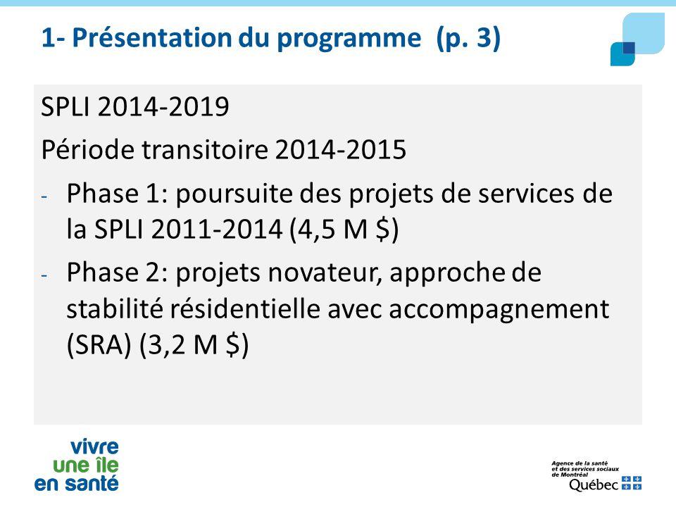 1- Présentation du programme (p. 3)