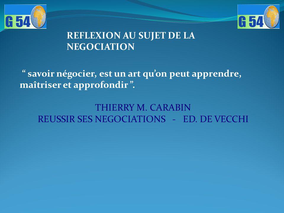 REUSSIR SES NEGOCIATIONS - ED. DE VECCHI