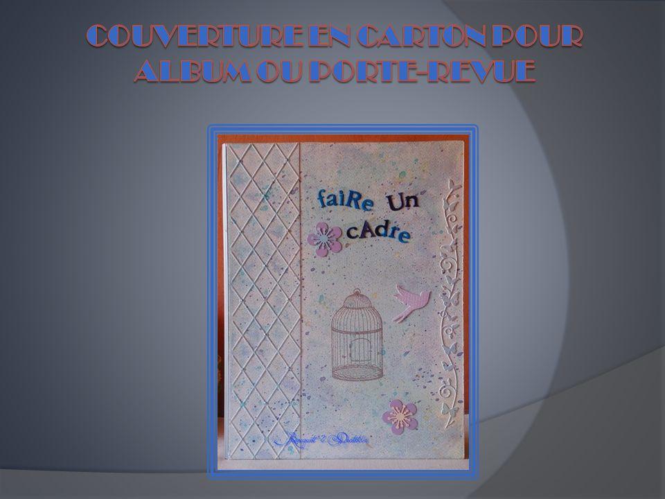 Couverture en carton pour album ou porte-revue