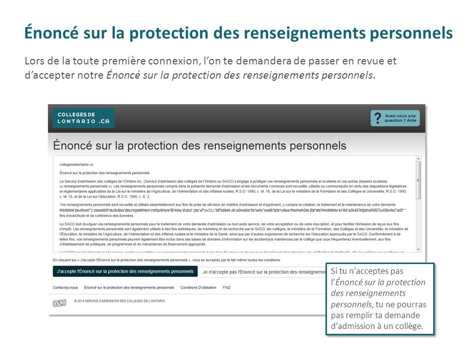 Énoncé sur la protection des renseignements personnels
