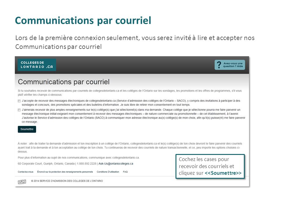 Communications par courriel