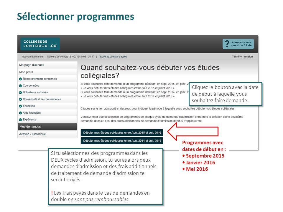 Sélectionner programmes