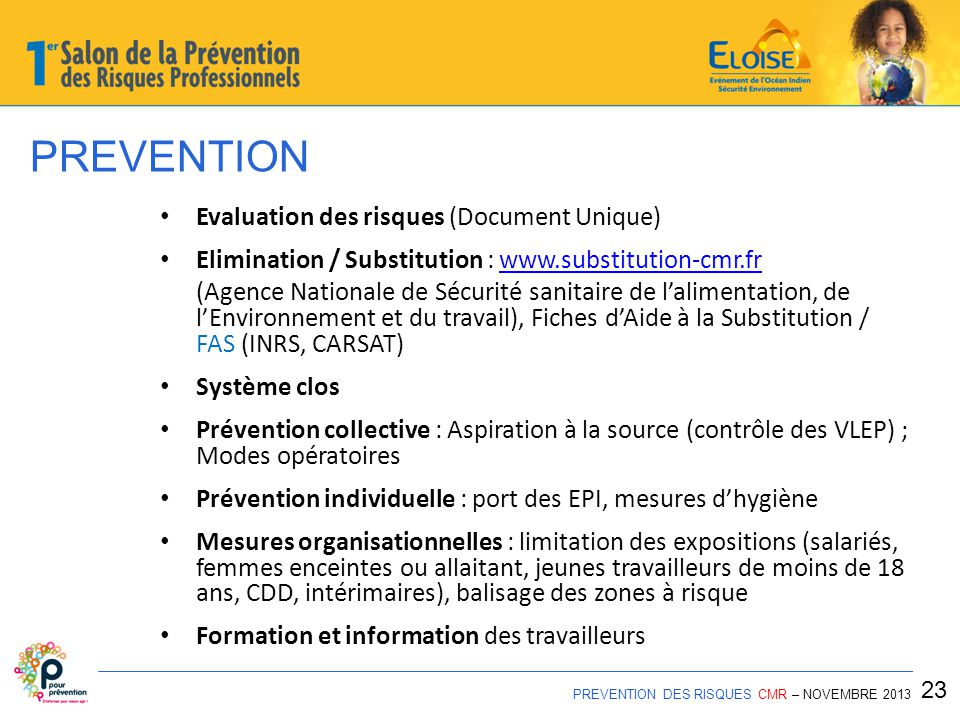 PREVENTION Evaluation des risques (Document Unique)