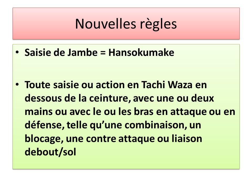 Nouvelles règles Saisie de Jambe = Hansokumake