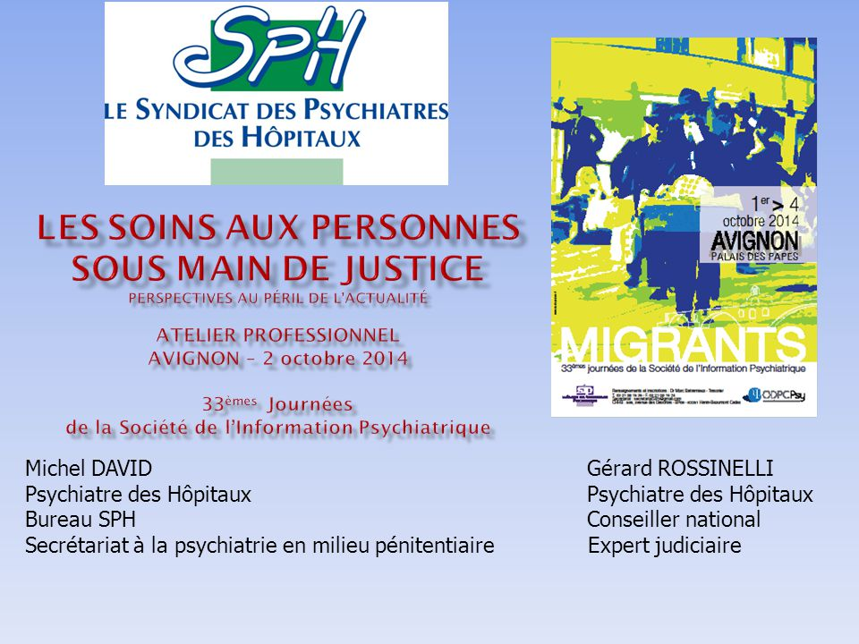 M. David & G. Rossinelli - Avignon - 02/10/2014