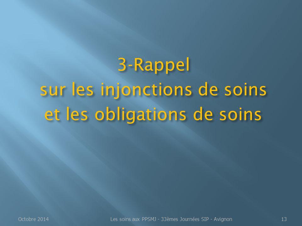 3-Rappel sur les injonctions de soins et les obligations de soins