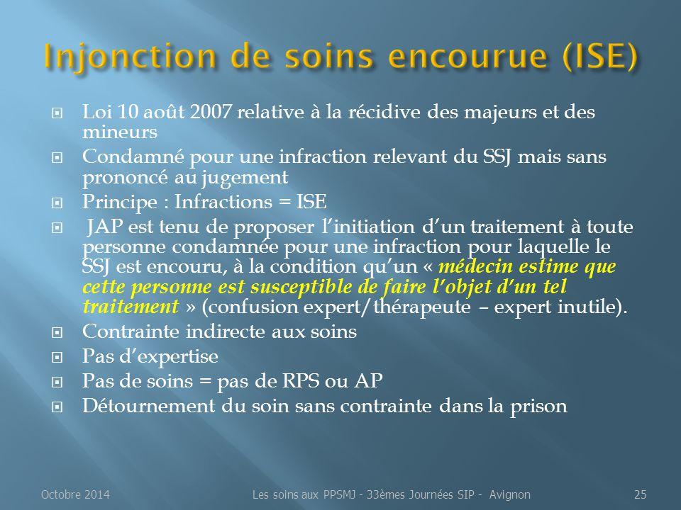 Injonction de soins encourue (ISE)