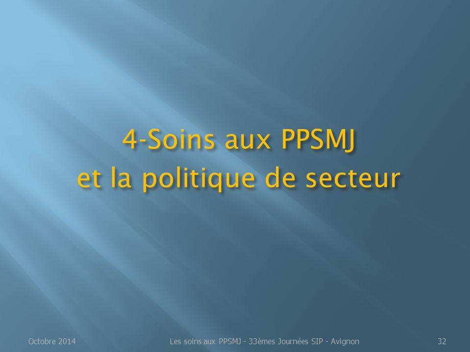 4-Soins aux PPSMJ et la politique de secteur