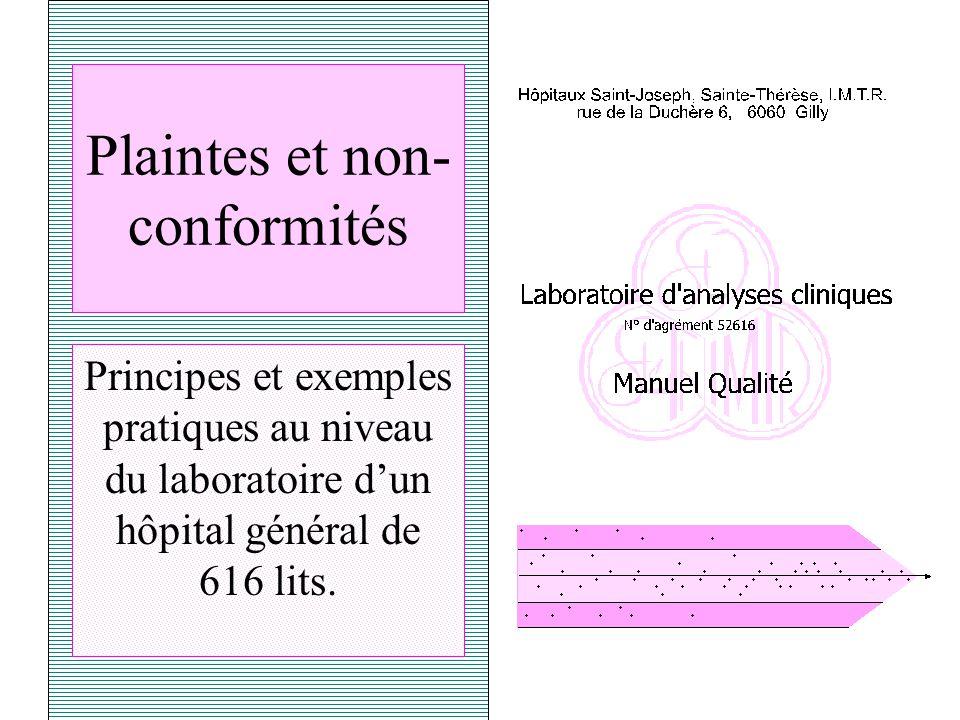 Plaintes et non-conformités