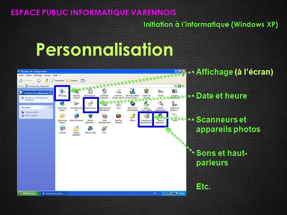 Personnalisation ESPACE PUBLIC INFORMATIQUE VARENNOIS