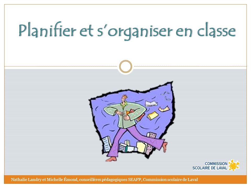 Planifier et s'organiser en classe