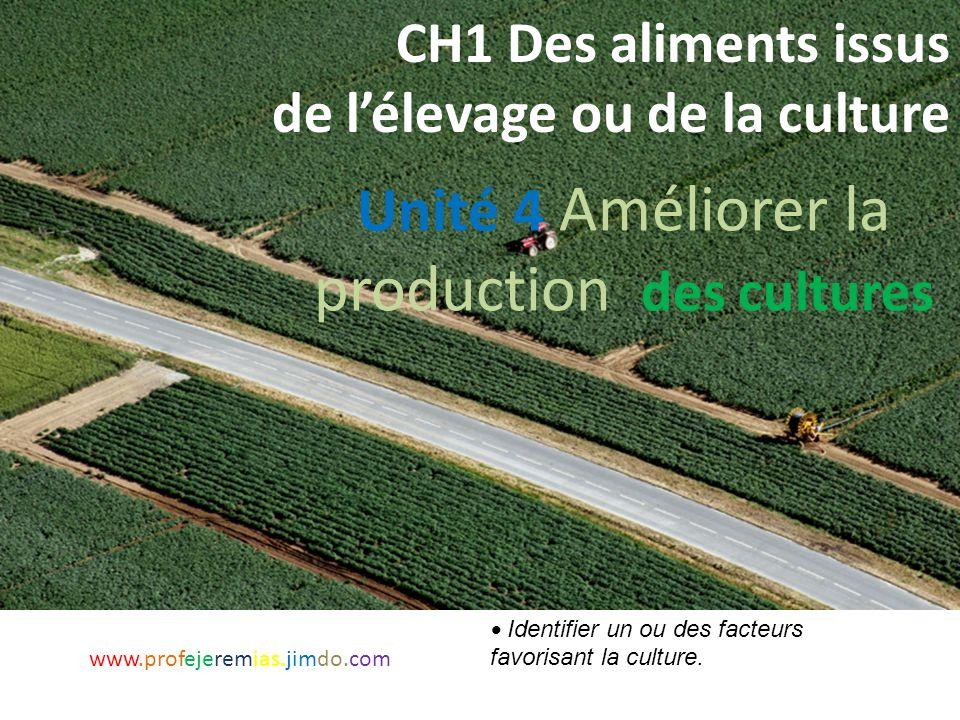 CH1 Des aliments issus de l'élevage ou de la culture