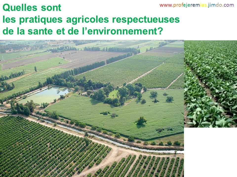 les pratiques agricoles respectueuses