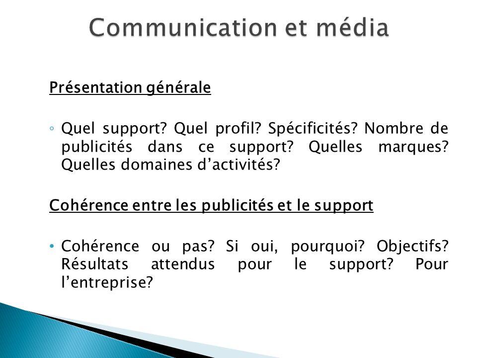 Communication et média