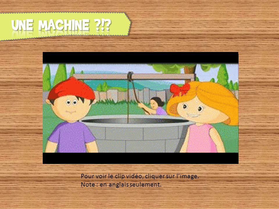 UNE MACHINE ! Pour voir le clip vidéo, cliquer sur l'image. Note : en anglais seulement.