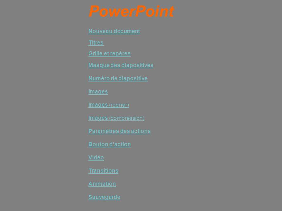 PowerPoint Nouveau document Titres Grille et repères