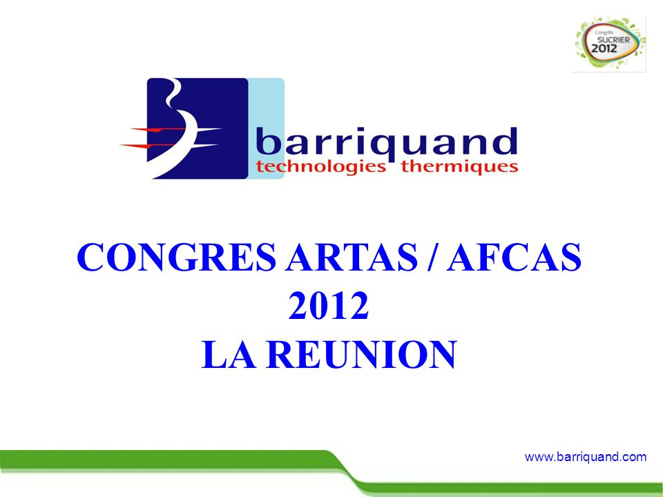 CONGRES ARTAS / AFCAS 2012 LA REUNION