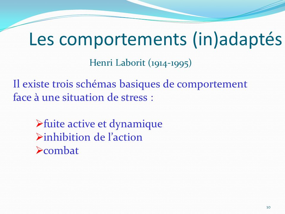 Les comportements (in)adaptés