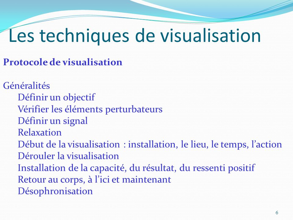 Les techniques de visualisation