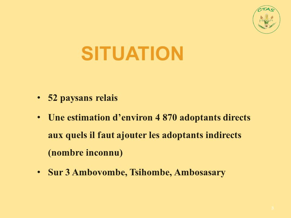 Situation 52 paysans relais