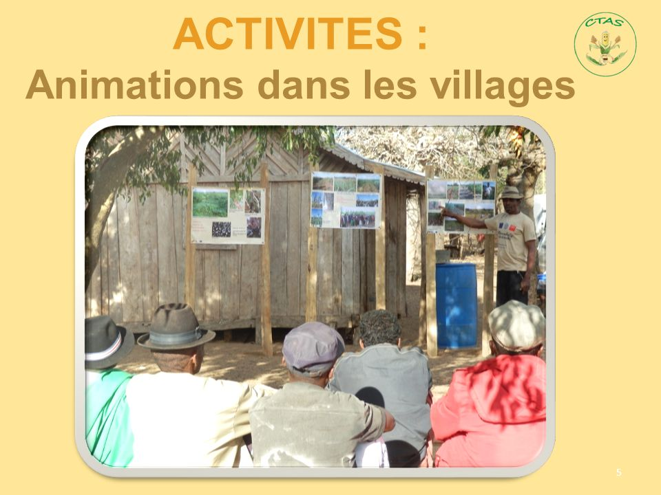 AcTIVITES : Animations dans les villages
