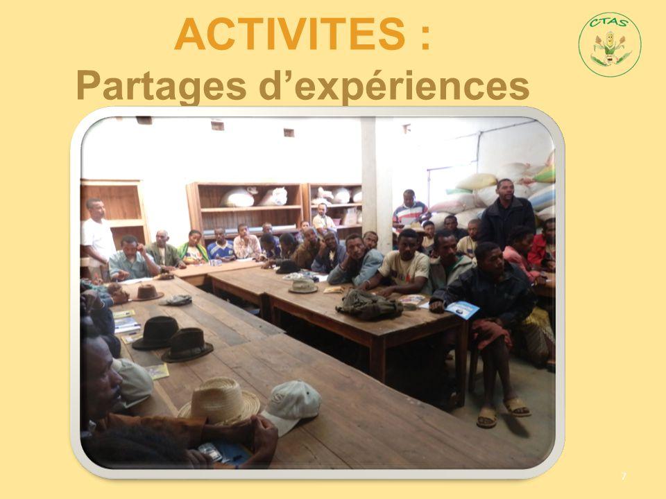 AcTIVITES : Partages d'expériences