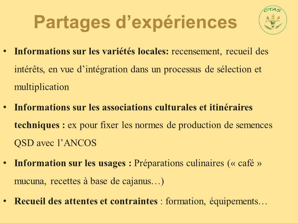 Partages d'expériences