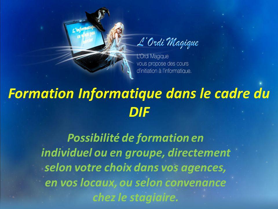 Formation Informatique dans le cadre du DIF
