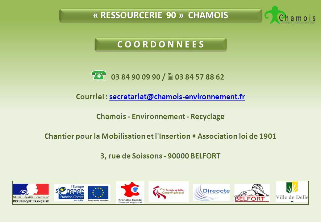 « RESSOURCERIE 90 » CHAMOIS C O O R D O N N E E S