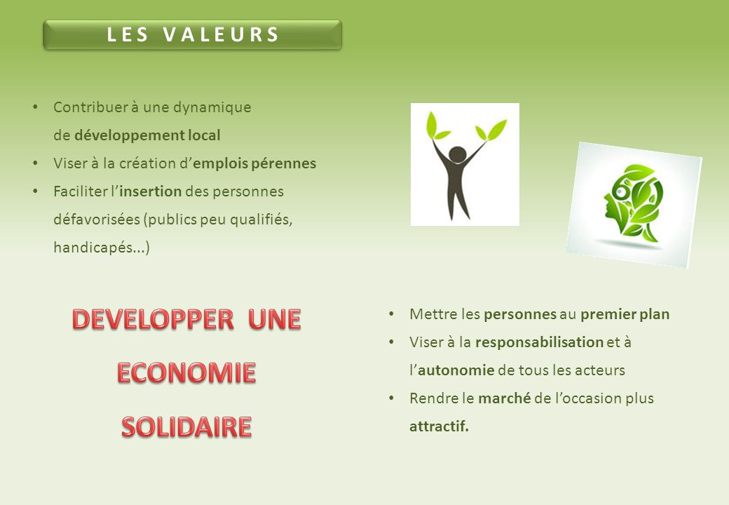 DEVELOPPER UNE ECONOMIE SOLIDAIRE