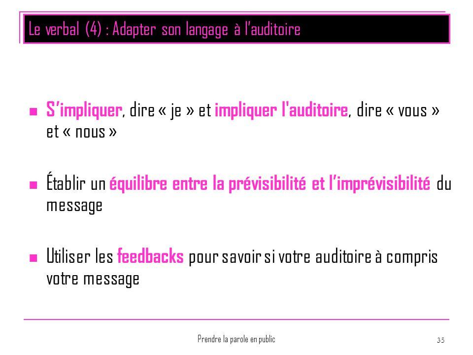 Le verbal (4) : Adapter son langage à l'auditoire