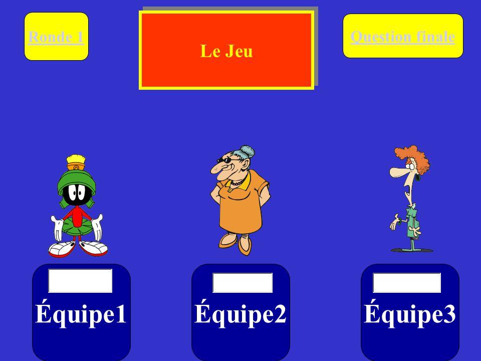Ronde 1. Le Jeu. Question finale. Équipe1. $ Équipe2.