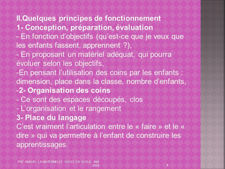 II.Quelques principes de fonctionnement