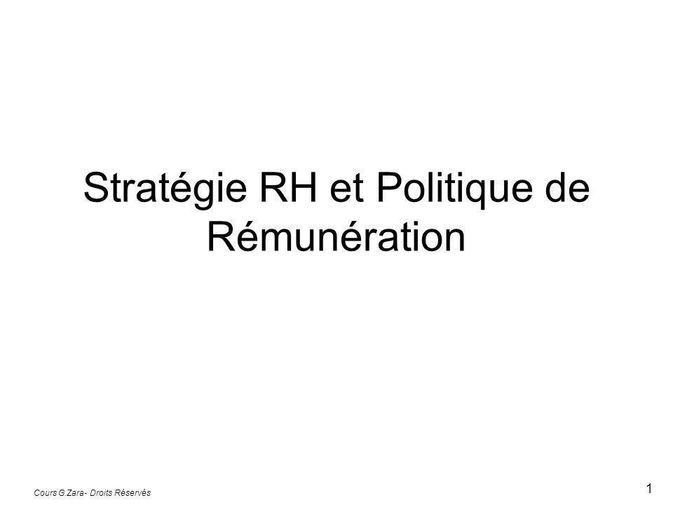 Stratégie RH et Politique de Rémunération