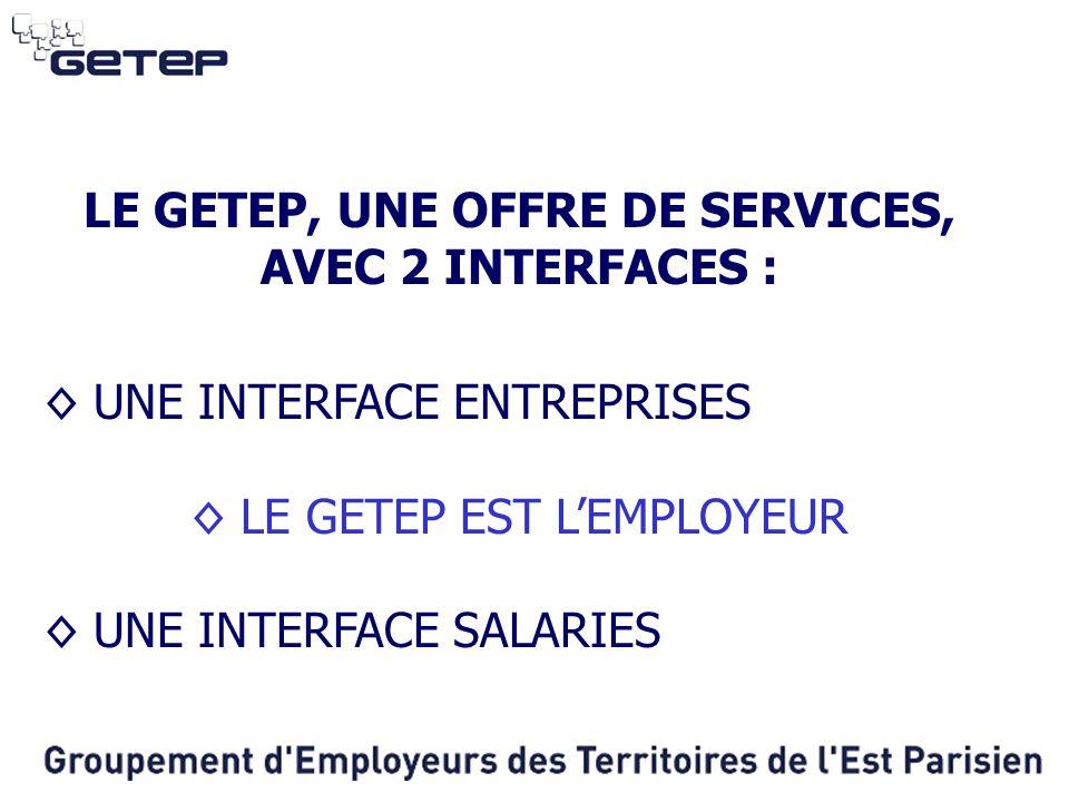 LE GETEP, UNE OFFRE DE SERVICES, AVEC 2 INTERFACES :