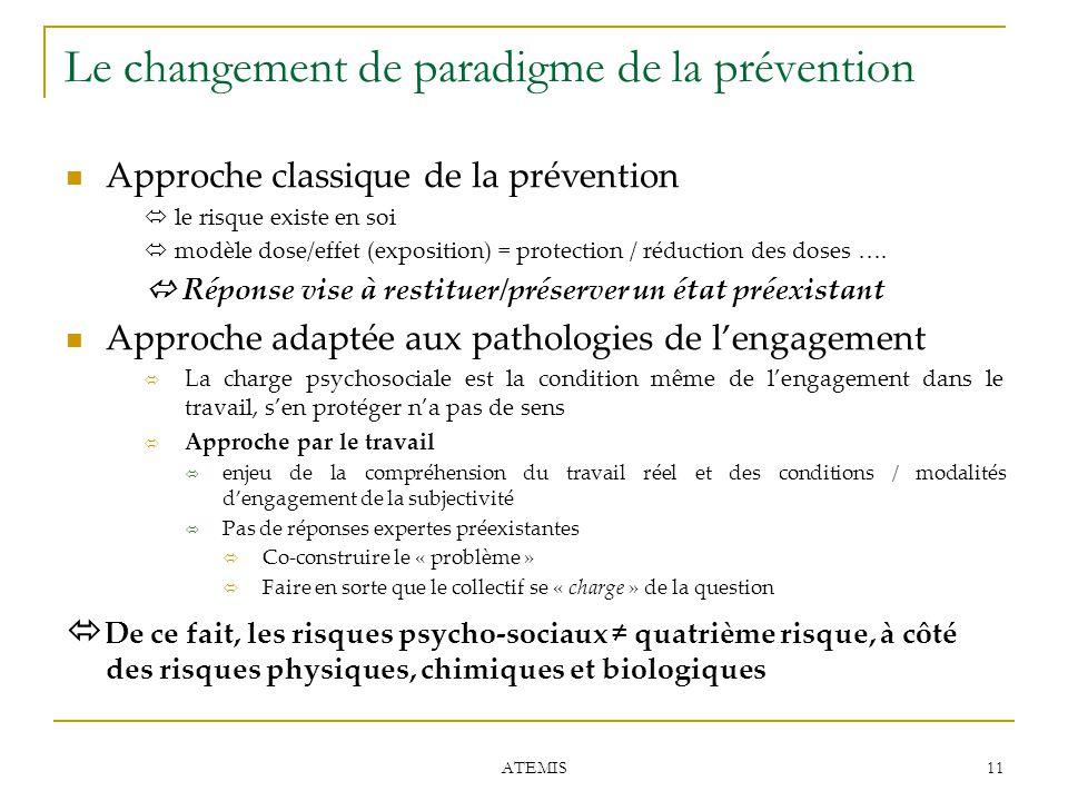 Le changement de paradigme de la prévention