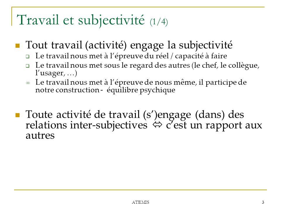 Travail et subjectivité (1/4)