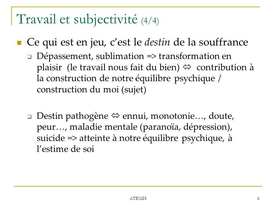Travail et subjectivité (4/4)