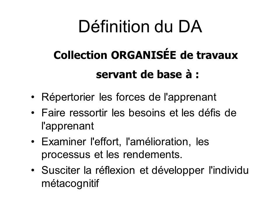 Collection ORGANISÉE de travaux
